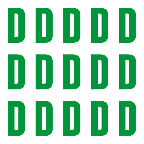 ID4 Euro Large Green Letter D