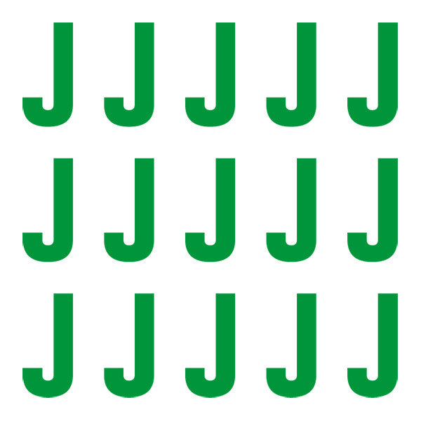 ID4 Euro Large Green Letter J
