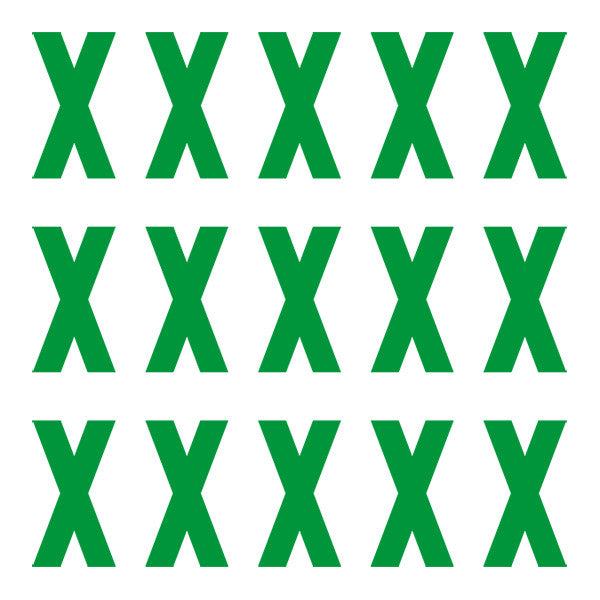 ID4 Euro Large Green Letter X