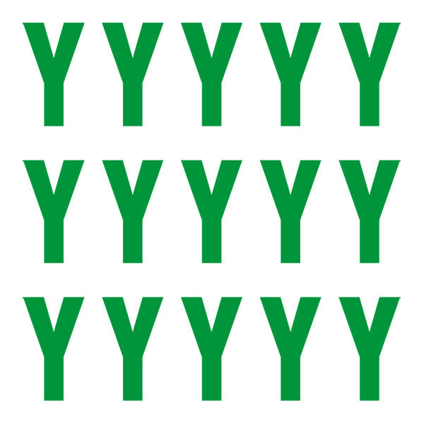 ID4 Euro Large Green Letter Y