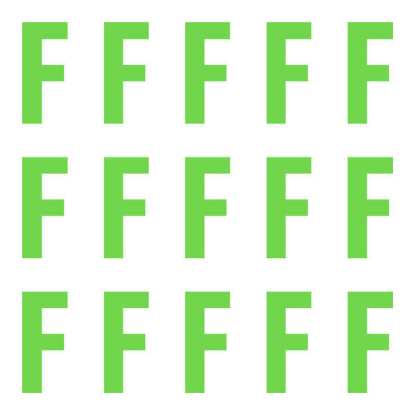 ID4 Euro Large Lime Letter F