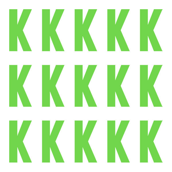 ID4 Euro Large Lime Letter K