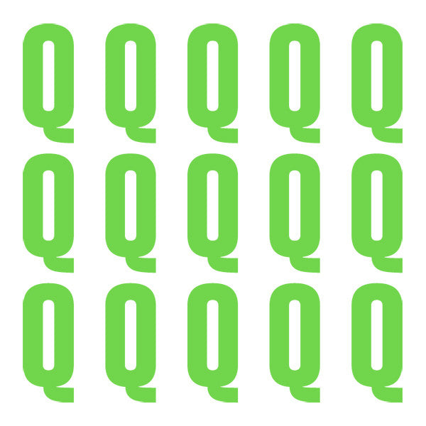 ID4 Euro Large Lime Letter Q