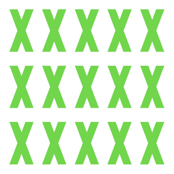 ID4 Euro Large Lime Letter X