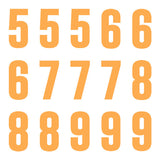 iD4 Euro Number Kit Orange Large Neon Sheet 2