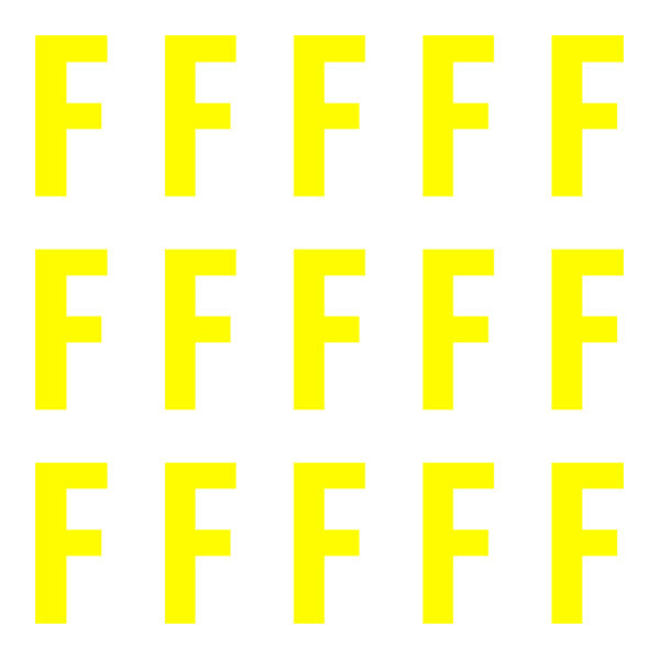 ID4 Euro Large Neon Yellow Letter F