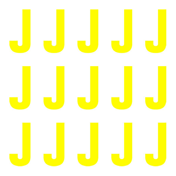ID4 Euro Large Neon Yellow Letter J