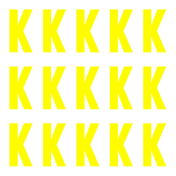 Euro large neon yellow letter k id4gear for Large neon letters