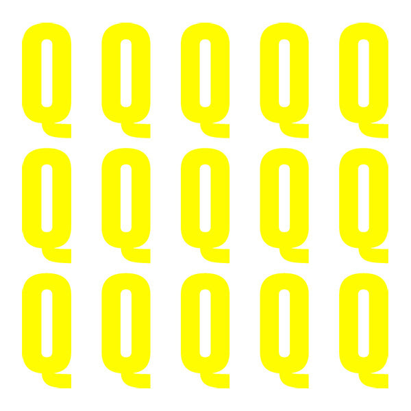 ID4 Euro Large Neon Yellow Letter Q