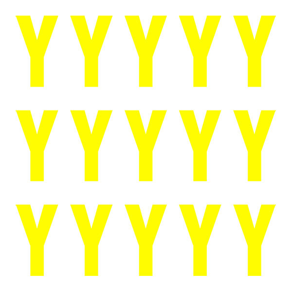 ID4 Euro Large Neon Yellow Letter Y