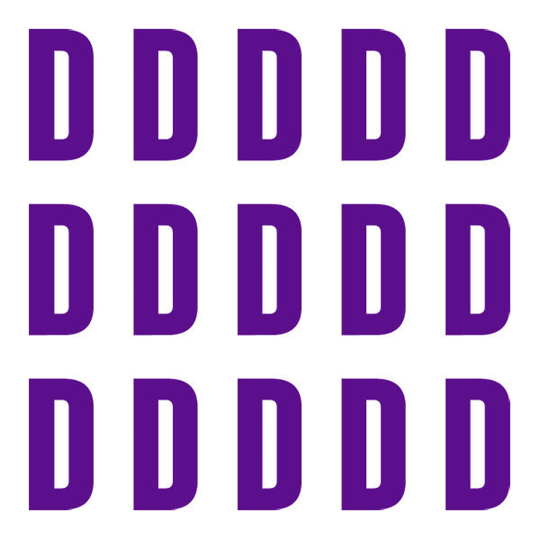 ID4 Euro Large Purple Letter D
