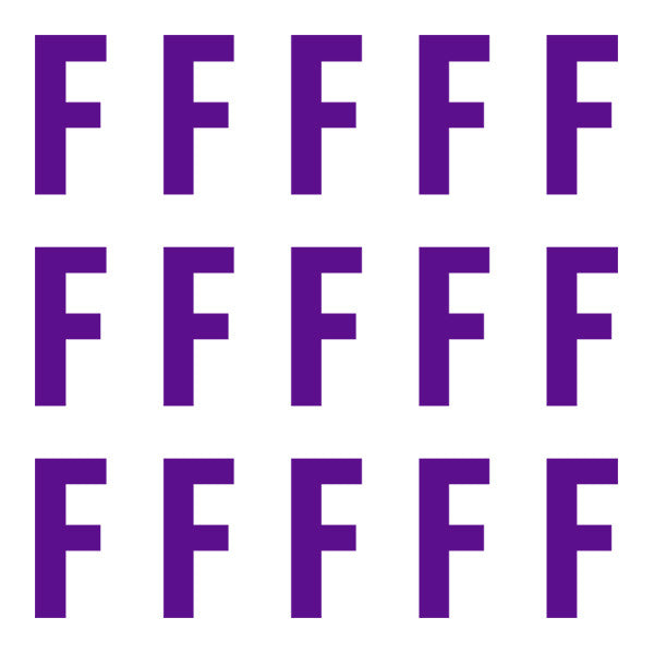ID4 Euro Large Purple Letter F