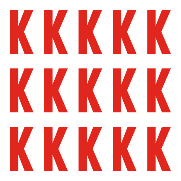 ID4 Euro Large Red Letter K