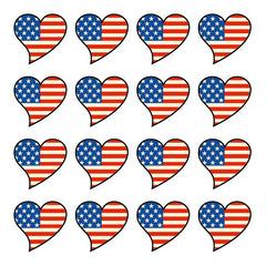 iD4 USA Flag Heart Icons
