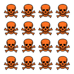 iD4 Neon Orange Skull Icons
