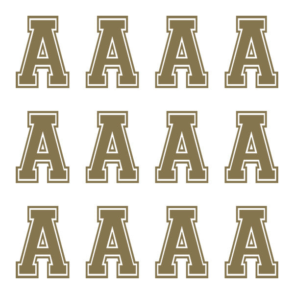 ID4 Varsity Large Gold Letter A