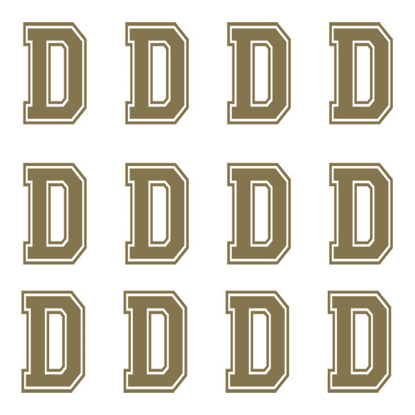 ID4 Varsity Large Gold Letter D