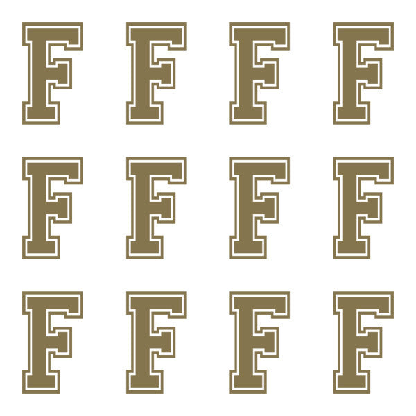 ID4 Varsity Large Gold Letter F