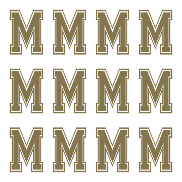 ID4 Varsity Large Gold Letter M