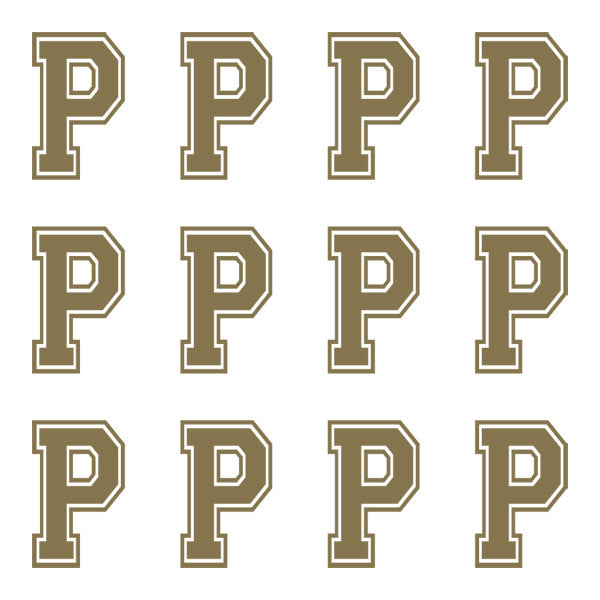 ID4 Varsity Large Gold Letter P