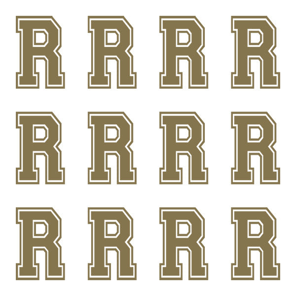 ID4 Varsity Large Gold Letter R