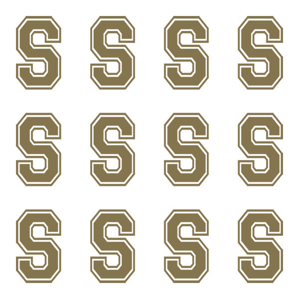 ID4 Varsity Large Gold Letter S