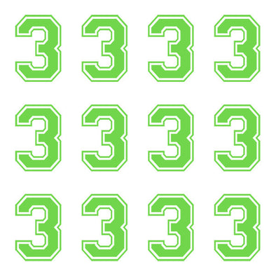 ID4 Varsity Large Lime Number 3
