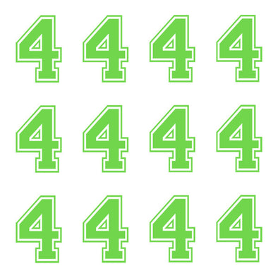 ID4 Varsity Large Lime Number 4