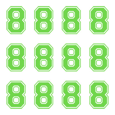 ID4 Varsity Large Lime Number 8