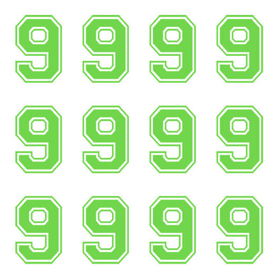 ID4 Varsity Large Lime Number 9