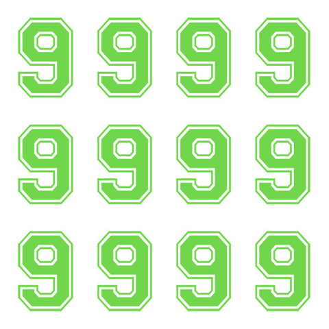 Varsity Large Lime Number 9