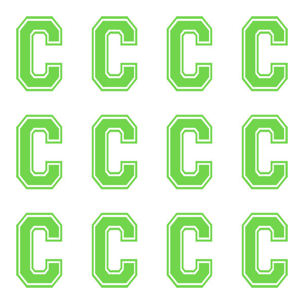 ID4 Varsity Large Lime Letter C