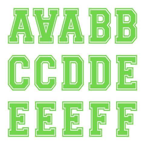 Varsity Large Lime Letter Kit (Four Sheets)