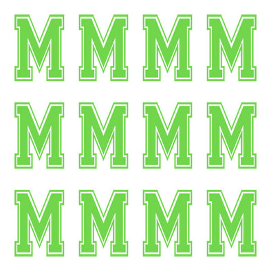 ID4 Varsity Large Lime Letter M