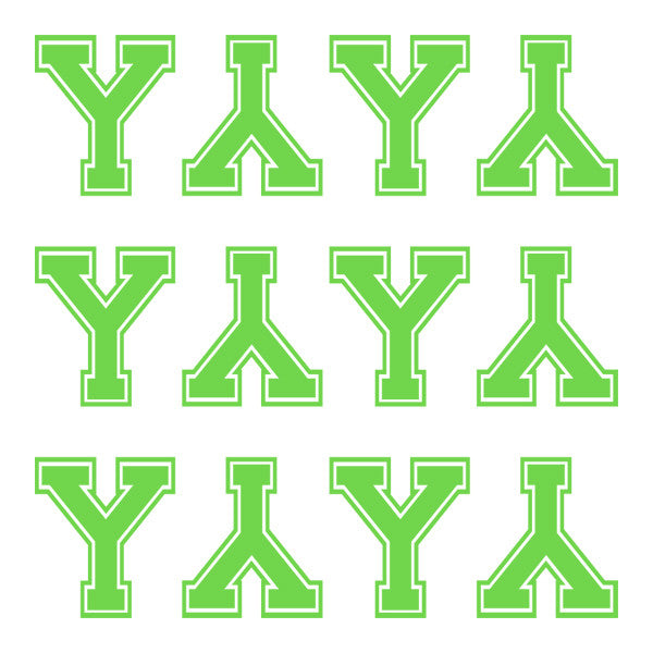 ID4 Varsity Large Lime Letter Y
