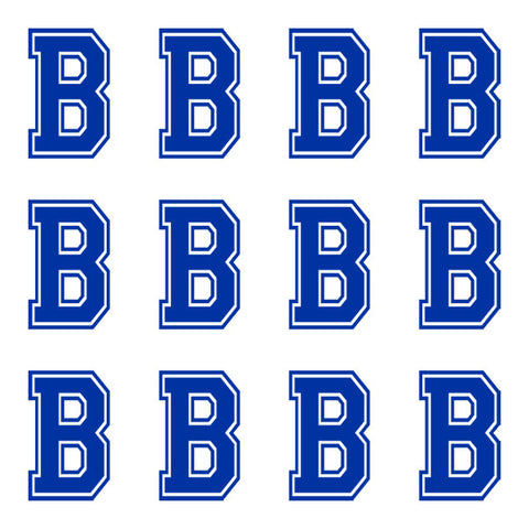 Varsity Large Navy Blue Letter B