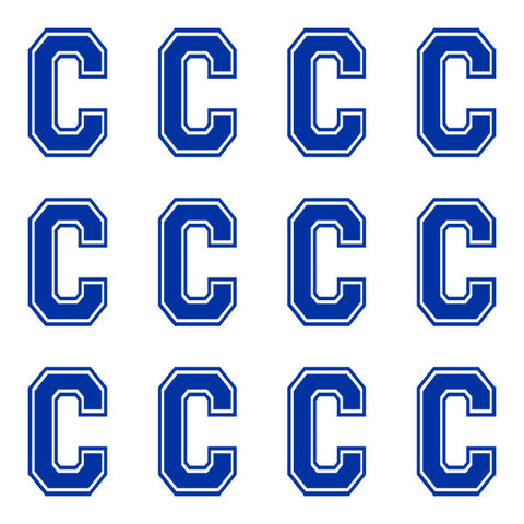 Varsity Large Navy Blue Letter C