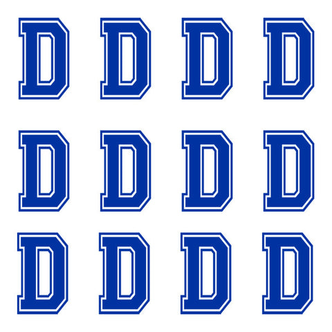 Varsity Large Navy Blue Letter D