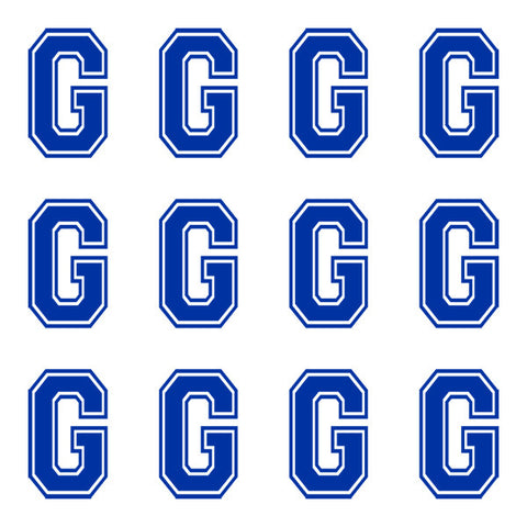 Varsity Large Navy Blue Letter G