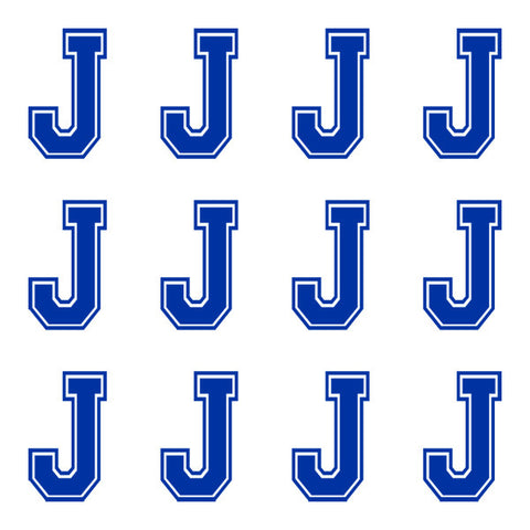 Varsity Large Navy Blue Letter J