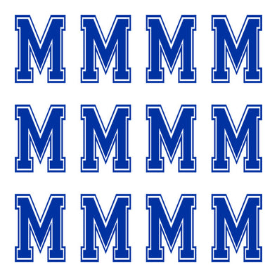 ID4 Varsity Large Navy Blue Letter M