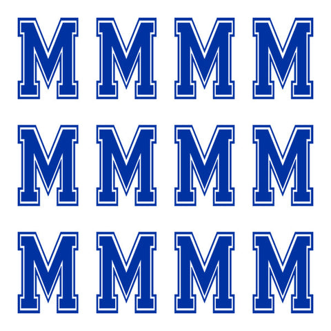 Varsity Large Navy Blue Letter M