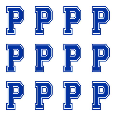 Varsity Large Navy Blue Letter P