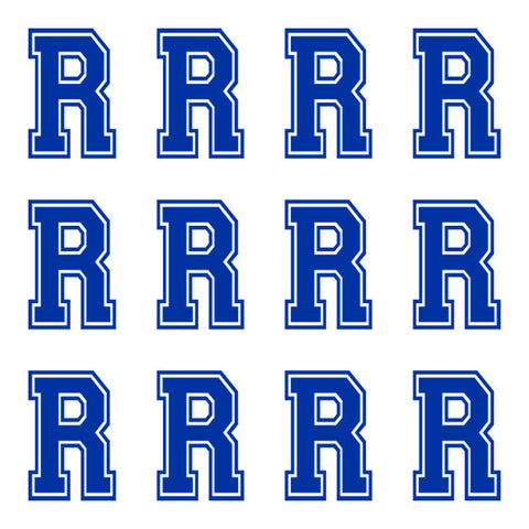 Varsity Large Navy Blue Letter R