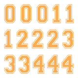 iD4 Varsity Number Kit Orange Large Neon Sheet 1