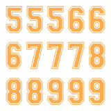 iD4 Varsity Number Kit Orange Large Neon Sheet 2