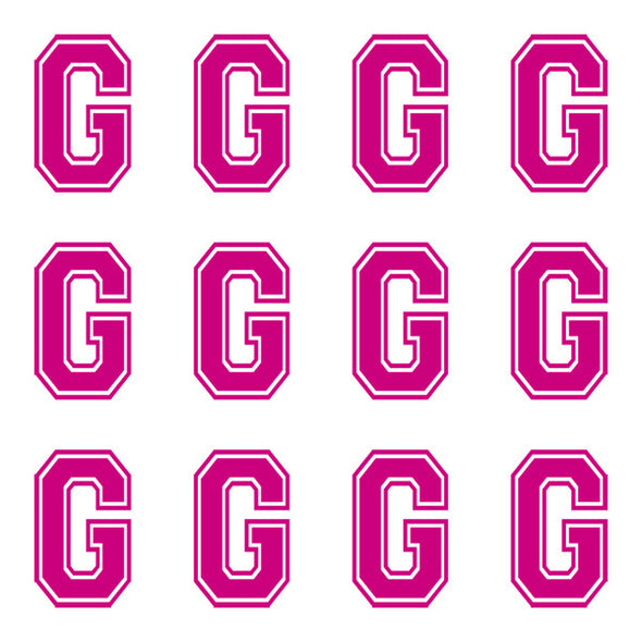 ID4 Varsity Large Pink Letter G