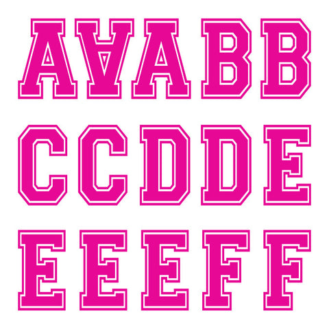 Varsity Large Pink Letter Kit (Four Sheets)