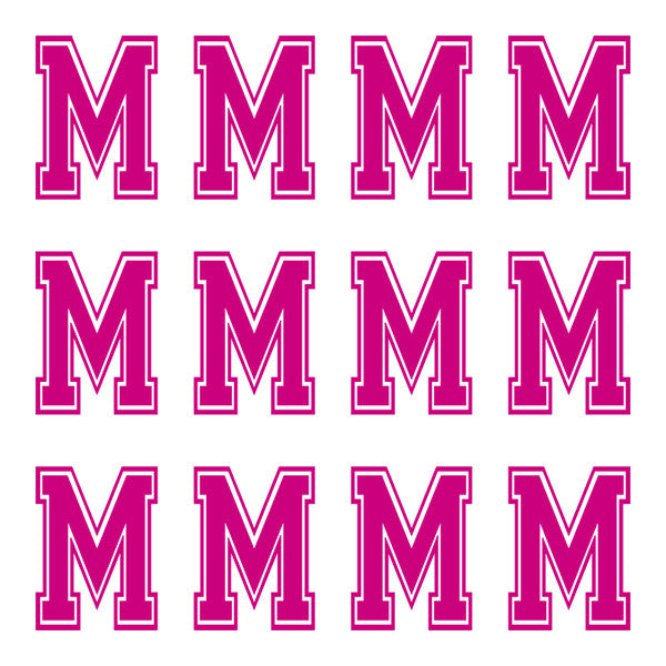 ID4 Varsity Large Pink Letter M