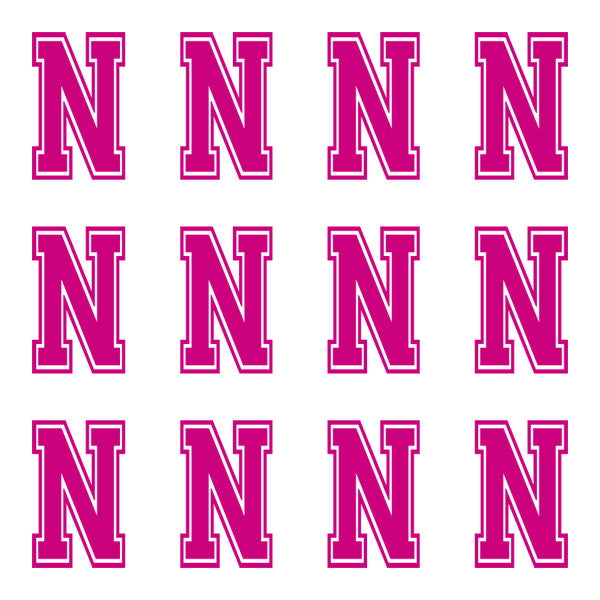 ID4 Varsity Large Pink Letter N